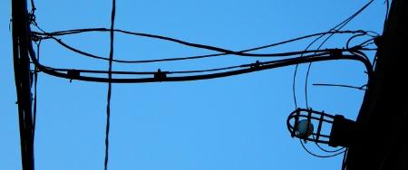 Ampoule dans une ruelle à Montréal