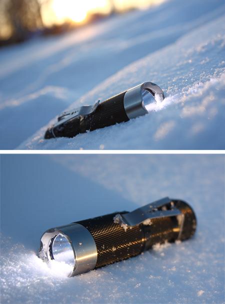 HDS Ra Clicky dans la neige